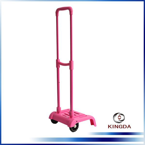 KINGDA new arrival durable luggage trolley handle plastic telescopic parts for suitcases