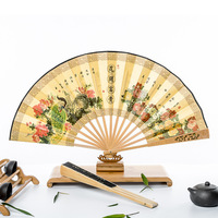 Chinese bamboo hand folding fan for wholesale