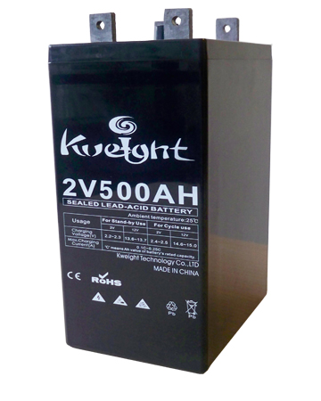 China battery 2V500AH solar energy storage battery rechargeable battery