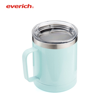 Everich 10oz double wall stainless steel vacuum insulated tumbler mug with handle