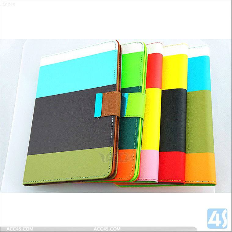 For Apple iPad Mini Mix-Color PU Leather Case Cover Stand P-iPDMINICASE116