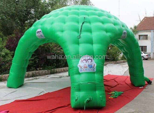 6m(D) event/party/igloo tent inflatable/green/PVC/for advertising/promotional/exhibition/trade/outdoor/with logo print -W1080
