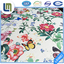 100% polyester Chinese flower applique microfiber fabric for bedding