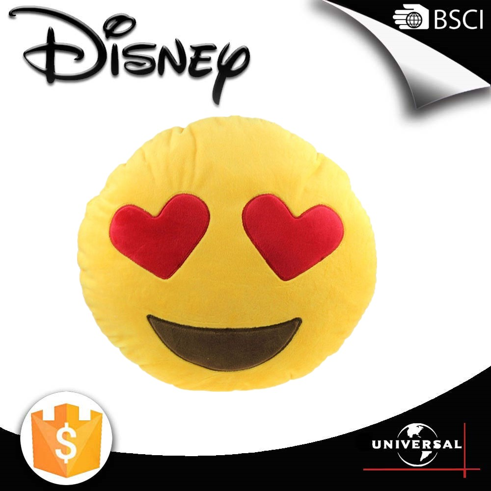 Disney factory 2016 New arrivel custom whatsapp emoji smiley pillow cushion