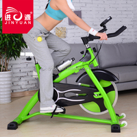 Indoor cycling bike with water bottle and hand pluse