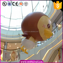 Lovely Giant Inflatable Dark Duck Customized Logo Printing Advertising Mascot