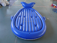 fish shape inflatable beach island with cup holders