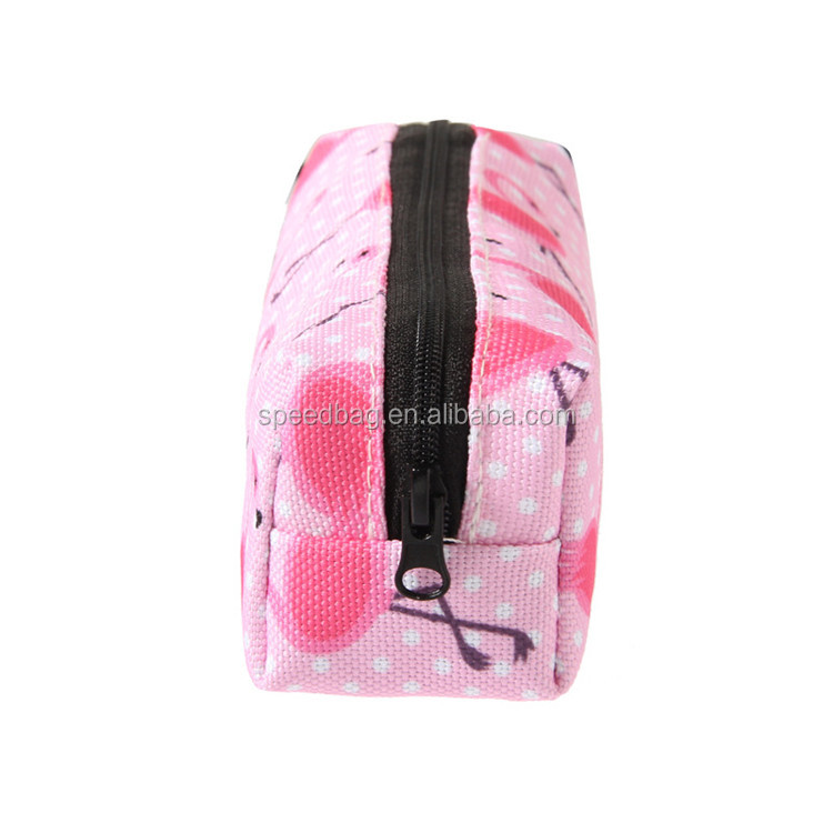 Factory custom sublimation printed flamingo bag cute pencil case