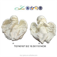 baby angel figurine polyresin