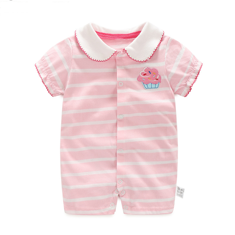 Infants & toddlers organic cotton baby rompers wholesale baby clothes lace baby rompers girls