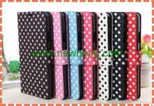Popular Cheap Perfect Polka Dot Pattern Mobile phone Leather Case For iphone6/6 plus