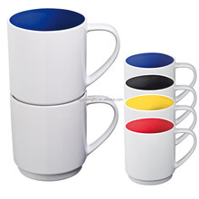 Wholesale Custom 12 OZ Ceramic Stackable Coffee Mug