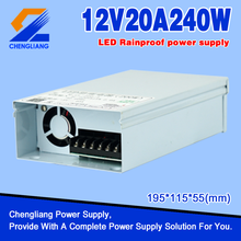 ac/dc IP65 12V outdoor Led Rainproof Switching Power Supply 240W 10A for Led lighting and Led Strip