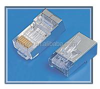 PJK cat5e cat6 rj45 8p8c shield Telephone modular plug