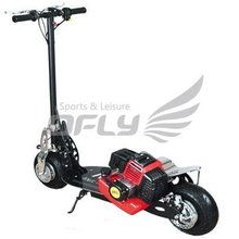 49cc CE Approved Foldable trike gas scooter with Steel Board