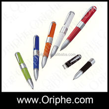 promotional gift metal pen usb flash drive, Free logo silver pendrive 8gb