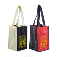 color optional custom printing and size 90gsm non woven wine shopping tote bag