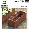 2016 New and Hot composite plastic wood planter outdoor wpc flower box