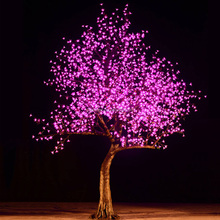 Outdoor decorative artificial led cherry blossom tree lighted tree