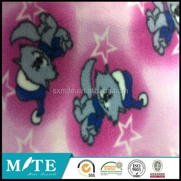 100%polyeste r antipilling cat polar fleece fabric made in keqiao