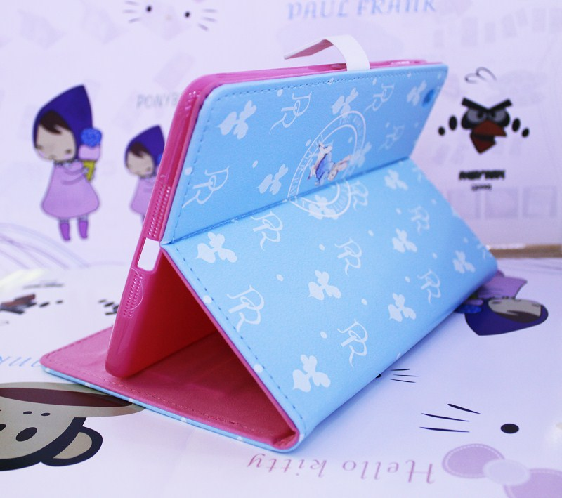 Hot selling peter rabbit pu leather case for apple pad mini