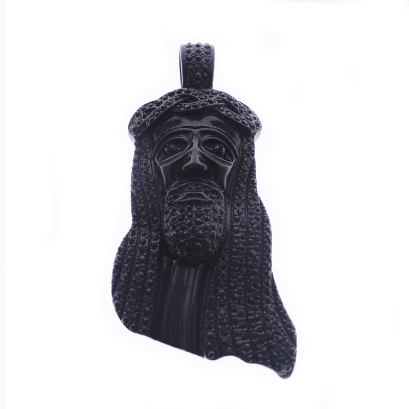 Mens Huge Jesus Iced-Out Face Big Head HipHop <strong>Pendant</strong>