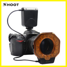 DSLR Digital Camera Accessories Macro LED Ring Flash Light For Nikon D7100 D5200 D750 D3200 D800 D810 D90/ Cannon 5D2 5D III 5D4