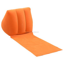 Flocking wedge inflatable backrest beach backrest readig pillow