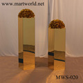 2017 New champagne gold mirror surface flower stand pillar column for wedding decorating party and weddings decoration(MWS-020)