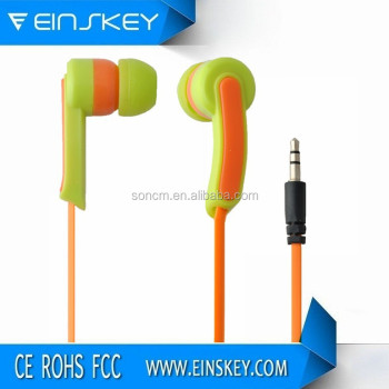 Promotional Hot sell new design colorful earphones for music mp3