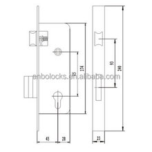 European style sliding door lock