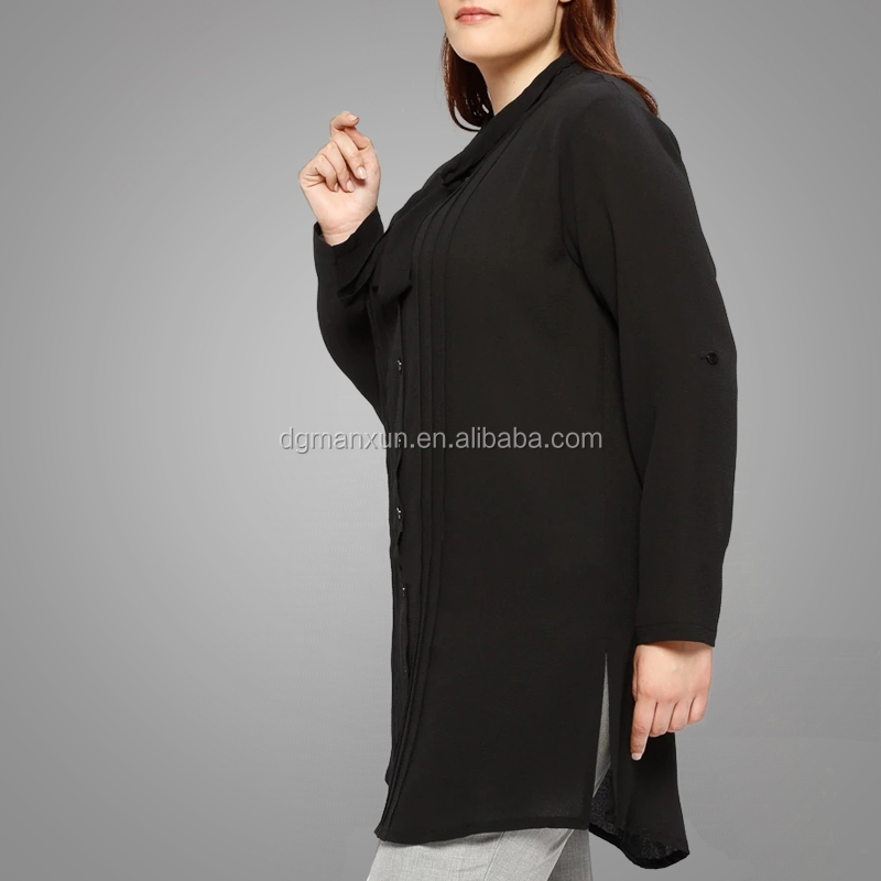 High quality plus size muslim tunic tops long sleeve modest tops Islamic clothing