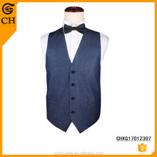 Wholesale Custom Denim Vests Waistcoat for Man