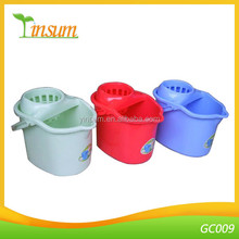 2016 New Wholesale Plastic Mop Bucket With Wheels