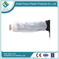 White and blue Disposable PE Sleeve Cover for Factory in Xiantao China