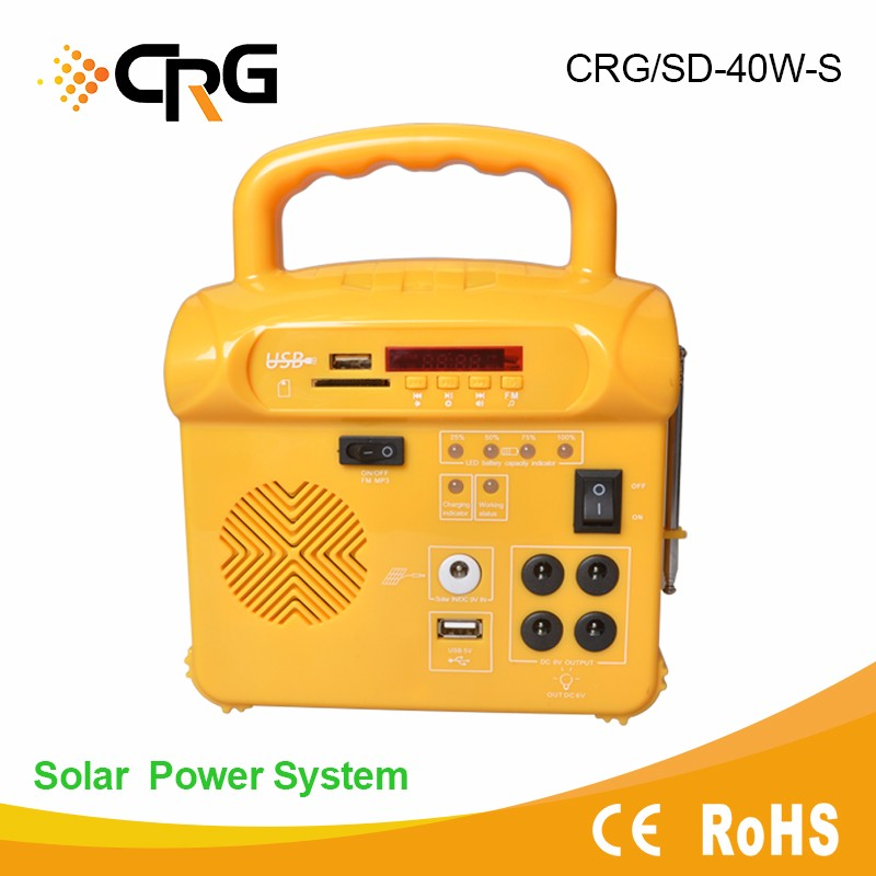 All in one Small 8w Solar Lighting Kit with Radio,Mp3 System