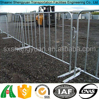 steel used road remote crowd control barrier