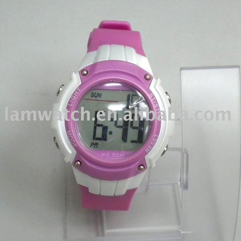 Plastic digital watch stopwatch