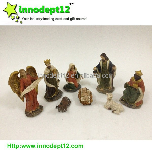 Resin nativity sets 8 figures item, statues holy family set