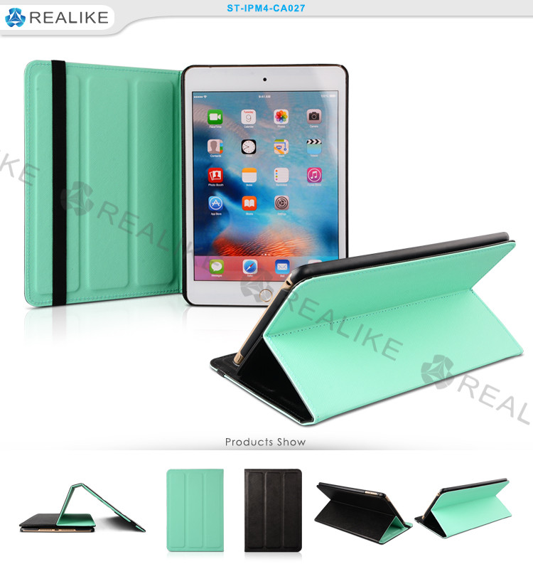 Detachable sublimation leather cover for apple ipad mini4, case for ipad mini