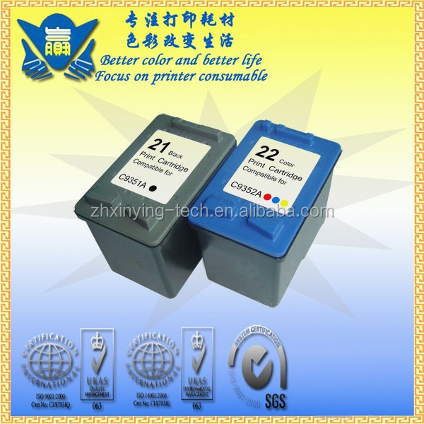Compatible Ink Cartridge C9351A C9352A for HP 21 22 use in Officejet 4355 5610