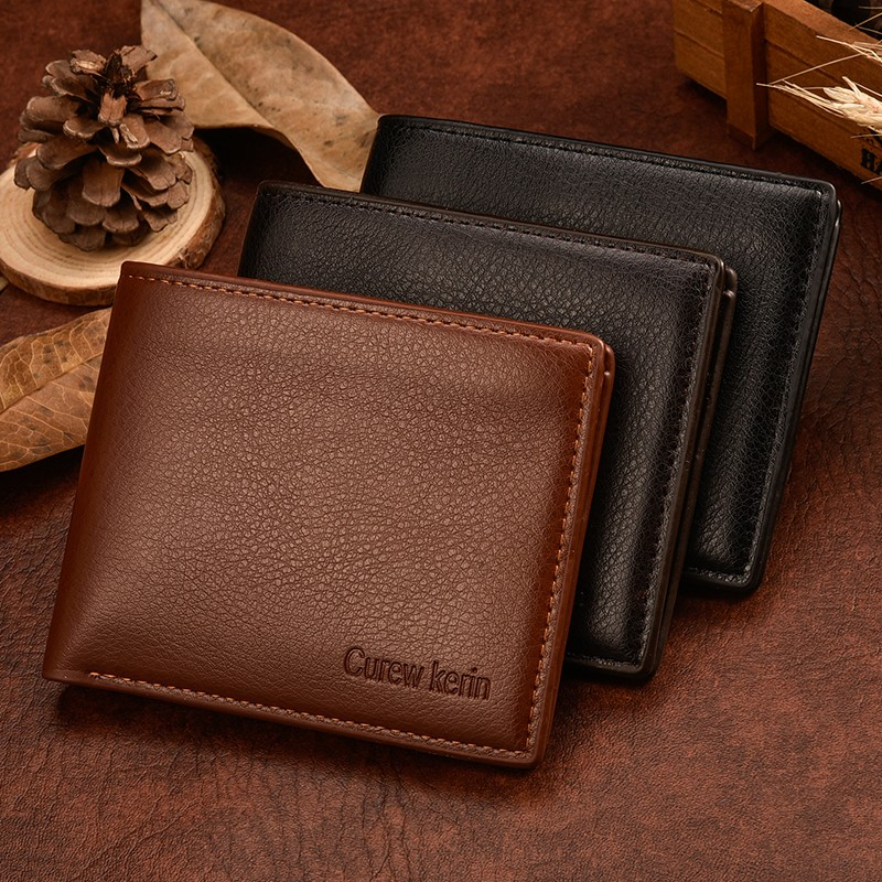 best selling 2017 designer purses clutch male business short solid PU High capacity cardit card holder men's leather <strong>wallet</strong>