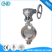 Carbon Stainless Steel SS 304 6 Inch DN150 DN200 Sandwich Butterfly Valve for GAS