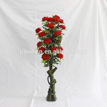 High quality decorative indoor making artificial peony flower tree