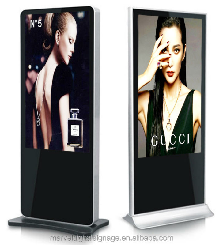 42 inch floor standing digital signage lcd monitor,vertical lcd digital signage