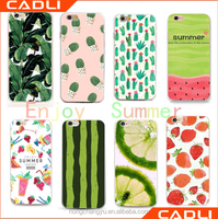 summer style lovely design flip cover transparent mobile phone case for iphone 6 case