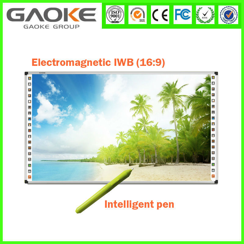 Gaoke competitive price factory 102inch big size HD nice writing speed electromagnetic interactive smart board