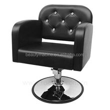 Luxury Barber Chair With Diamond And Big Round Base Hydraulic Hair Cutting For Barber Shop Reclining Hairdressing Styling Chair