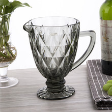 Factory direct selling water, tea and beverage bicchiere colored goblet fruit infusion pitcher