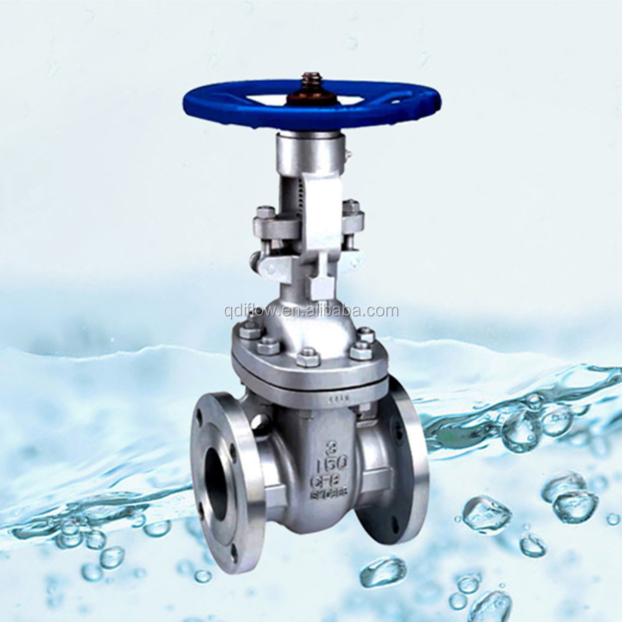 Resilient Seated Stainless Steel Gate Valve with Flanged Ends